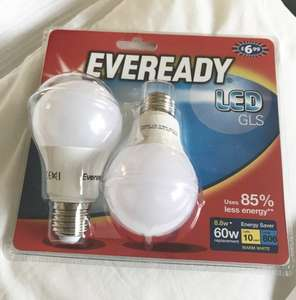 B&M Eveready LED Energy Saving 8.8w Bulb x 2 - £6.99, reduced to £3.50 - scanning at £1