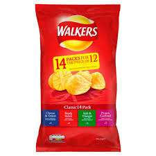 walkers crisps  multipack poundland 14 pack for £1