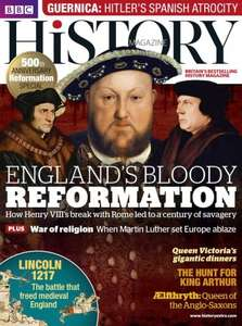 BBC History Print and Digital Magazine Subscription - 5 issues delivered for £5 @ Buysubscriptions.com - get another £2.87 cashback from TCB