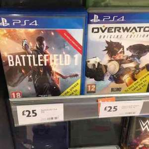 PS4 Battlefield 1 || Overwatch £25, For Honor £30 @ Morrisons  Birmingham