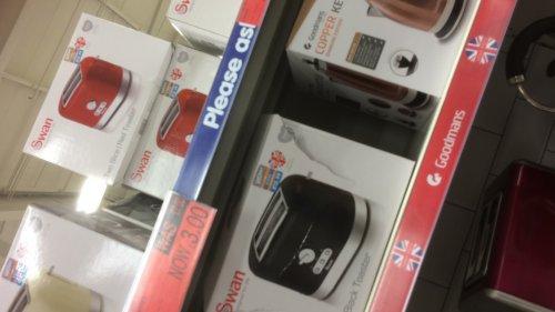 Swan toaster £3 at b&m