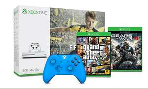 Xbox One S 500GB + FIFA 17 + Gears of War 4 + GTA V + Extra 2nd Controller = £199.99 with code @ Tesco Direct