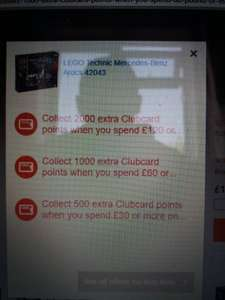 2000 Clubcard points FREE on £120 Lego @ tesco.com plus 2 other deals