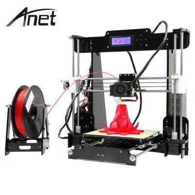 Anet A8 Desktop 3D Printer Prusa i3 DIY Kit  -  EU PLUG BLACK - £132.57 @ GearBest