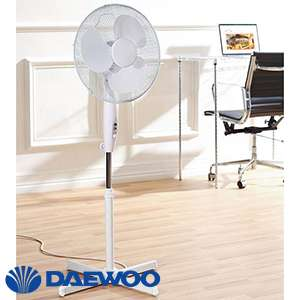 "Daewoo 16"" Stand Fan £12.99 In-store (C+C also) @ Home Bargains"