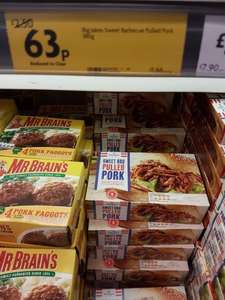 Sweet bbq pulled pork in freezer at morrisons dukinfield reduced 0.63p