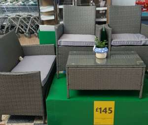 Grey 4 Piece Rattan Garden furniture set £145 @ morrisons
