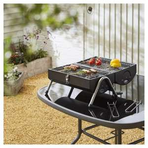 Tesco Portable Twin Grill Barrel BBQ now £15 @ Tesco Direct