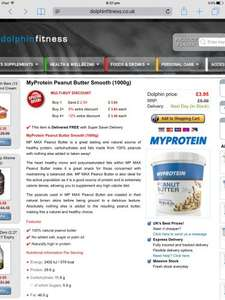 MyProtein Peanut Butter: As little as £3.48 per KG tub, with FREE delivery.