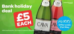 Add a touch of SPARkle to your BankHoliday weekend with our £5 Cava Deal instore @ Spar