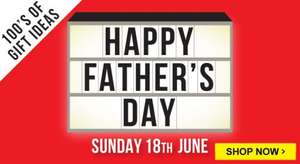 Free delivery on everything until Monday 29th with Father's Day gifts starting from £1, Airfix kits from £5 & kids craft from £1 more in post @ The Works