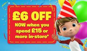 £6 off when you Spend £15 or more In-Store @ Smyths