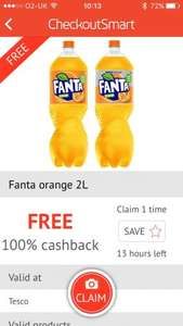 Free fanta or fanta zero 2l (£1.00) on checkoutsmart at Tesco