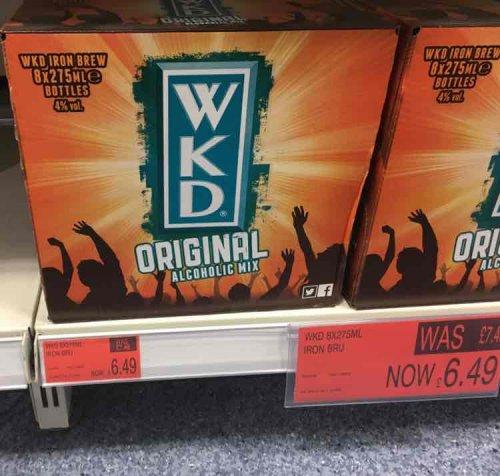 8 bottles of 275ml WKD Iron Bru -£6.49 at B&M