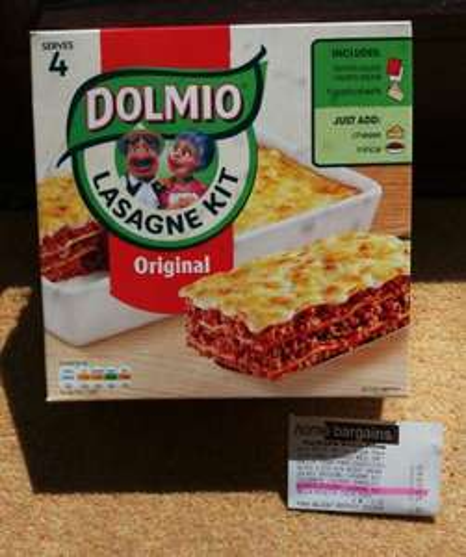 Original Dolmio Lasagne Kit 69p instore Home Bargains (Cannock)