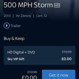 500mph Storm Free Buy & Keep - Sky Store (ok not the best film but uts free)