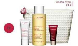 Clarins are doing 6 free samples instead 3 with free delivery if you use DEL16