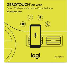 LOGITECH Zero Touch Air Vent - Amazon Alexa for your car - £9.99