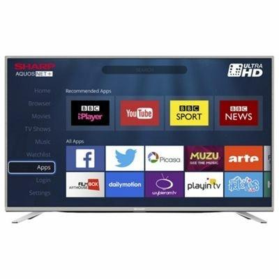Sharp 43 Inch LC-43CUG8462KS 4k UHD LED Smart TV With Freeview HD £279 @ Tesco