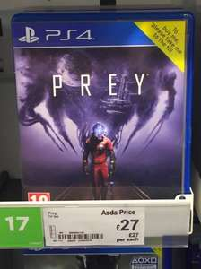 PREY - PS4/XBONE - Just £27 at ASDA In-Store and Online