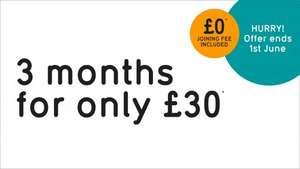 pure gym 3 months for £30....