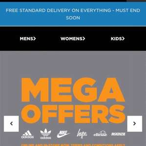 FREE Standard delivery on everything at JD Sport