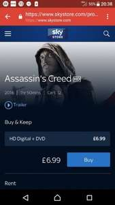 Assassins Creed Digital Copy + DVD £6.99 *Ends Monday* @ sky store