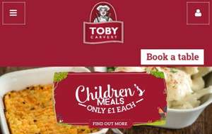 Toby Carvery kids eat for £1 until 10 June