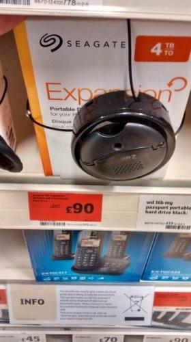 Seagate 4Tb Portable USB3 HDD £90 instore @ Sainsburys (Halifax)