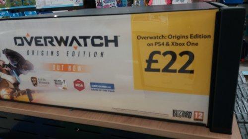 Overwatch origins edition PS4/XB1 £22 instore @ Tesco