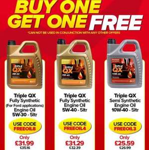 Selected QX engine oils 2for1 Eurocarparts see op