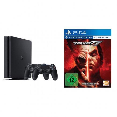 PS4 Slim Tekken 7 Bundle With 2x Dualshock 4 Controllers - Amazon.de 291.99 EUR (£254.98) or PS4 Slim with 2x Dualshock for 222 EUR (193.87)