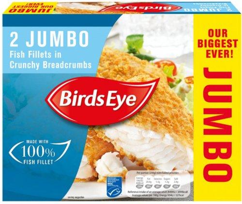 Birds Eye Jumbo Fish Fillets in Crumb (400g) was £2.75 now £1.37 @ Sainsbury's