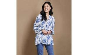Laura Ashley Floral Toile Print Smock Blouse (only sizes 8 & 12) £24.50 delivered was £79