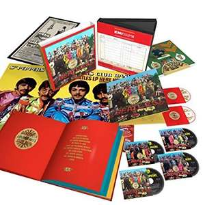 Sgt Pepper's Lonely Hearts Club Band Limited Super Deluxe Edition 4 CD 1 DVD 1 Blu Ray Amazon.de £78.92 The Beatles