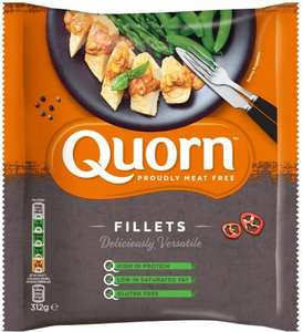 Quorn Meat Free Fillets (Gluten Free) (6 per pack - 312g) was £1.97 now £1.00 @ Morrisons and Asda