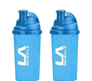 LA Muscle 700ml Shaker 2 pack- £1.50 delivered! Dispatched from and sold by The Official LA Muscle Shop / Amazon