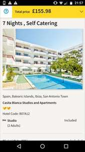 From Glasgow: Late Deal Club 18-30 Ibiza 7 Night Holiday £77.99pp 31/05-07/06