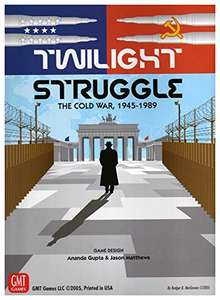 Twilight Struggle The Cold War 1945-1989 Board Game (ranked at #3 on BGG) £29.28 @ Amazon