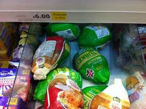 Frozen Turkey's reduced to clear £4.50 instore Tesco Extra Cardif