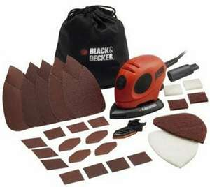 black and decker mouse detail sander with accessories £16.99 Prime/ £21.74 Non Prime @ Amazon