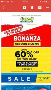 Eurocar parts bank holiday upto 60% off with code