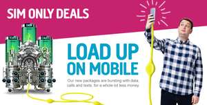 500 minutes - Unlimited texts - 3gb 4G data - 30 days sim only contract @ Plusnet Mobile (uSwitch Exclusive) £8.00 month