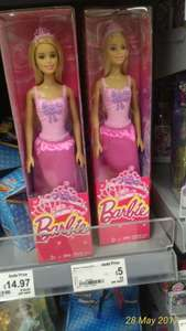 Barbie Princess doll only £5 in Asda (on Amazon at £13.80)