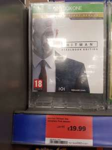 Xbox One -  HITMAN steelbook edition instore £19.99 @ Sainsbury's