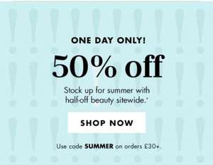50% off everything at ELF make up (orders over £30)