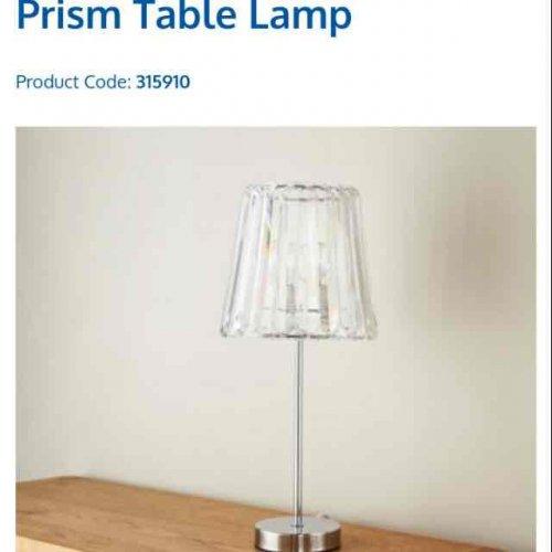 Prism Table Lamp £1 @ B&M