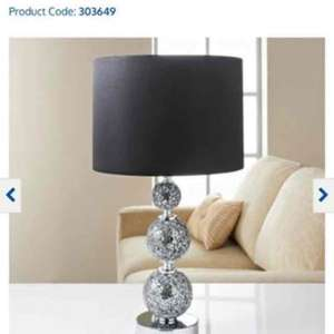 Ella Mosaic Ball Table Lamp £1 @ B&M