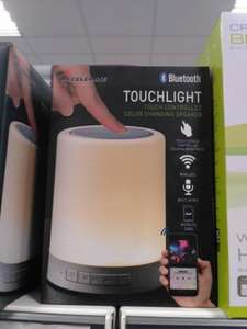 Accelerate touchlight colour changing Bluetooth speaker £9.99 instore @ Home Bargains