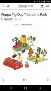 Peppa Pig Day at the Park playset Reduced to clear Tesco Southport £10